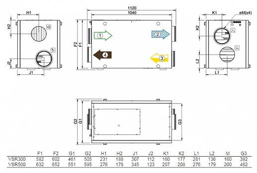 Приточно-вытяжная установка с рекуператором Systemair SAVE VSR 500